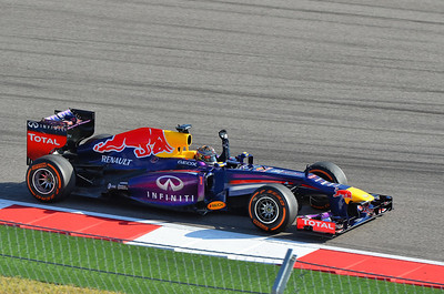 Formula 1 - U.S. Grand Prix (Turn 12).  Sebastian Vettel wins his 8th consecutive race of the 2013 season.